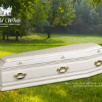 Burial, Sorrento White Solid Wood